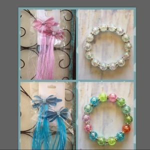 ❗️Closing❗️Lot of Hair Bow Clips & Bracelets